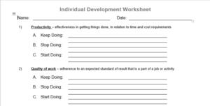 setting personal development goals